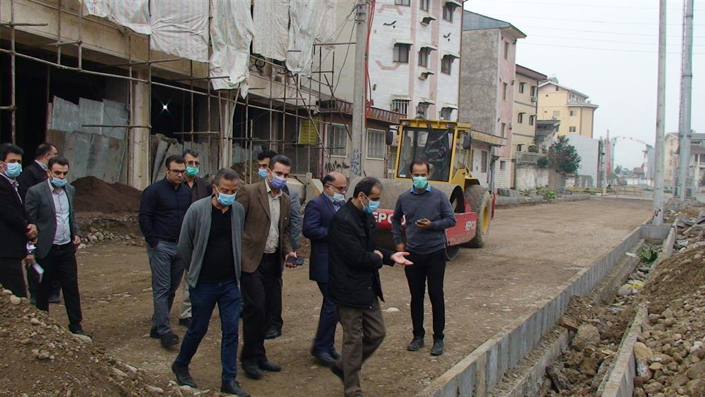DSC00118 - بازدید شهردار رشت از روند احداث خیابان ۸ دی رشت