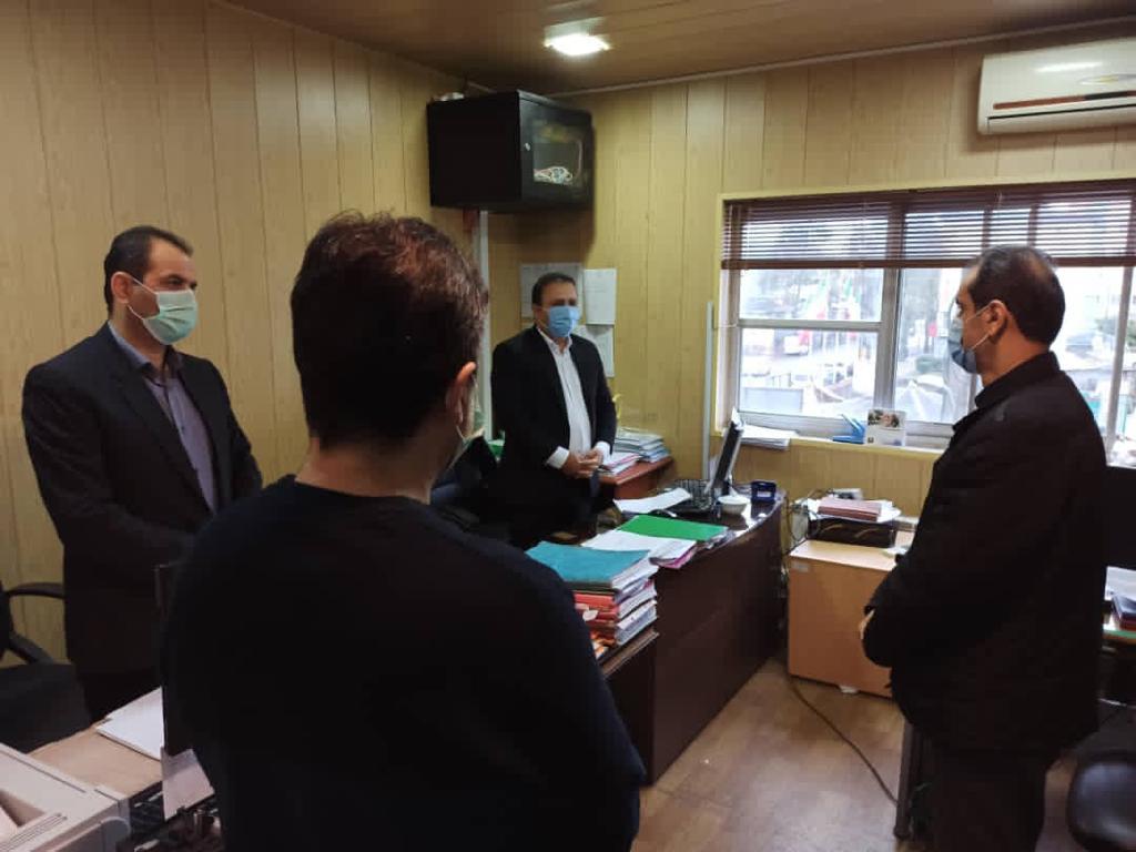 IMG 20201112 WA0081 - بازدید سرزده شهردار رشت از منطقه سه شهرداری رشت