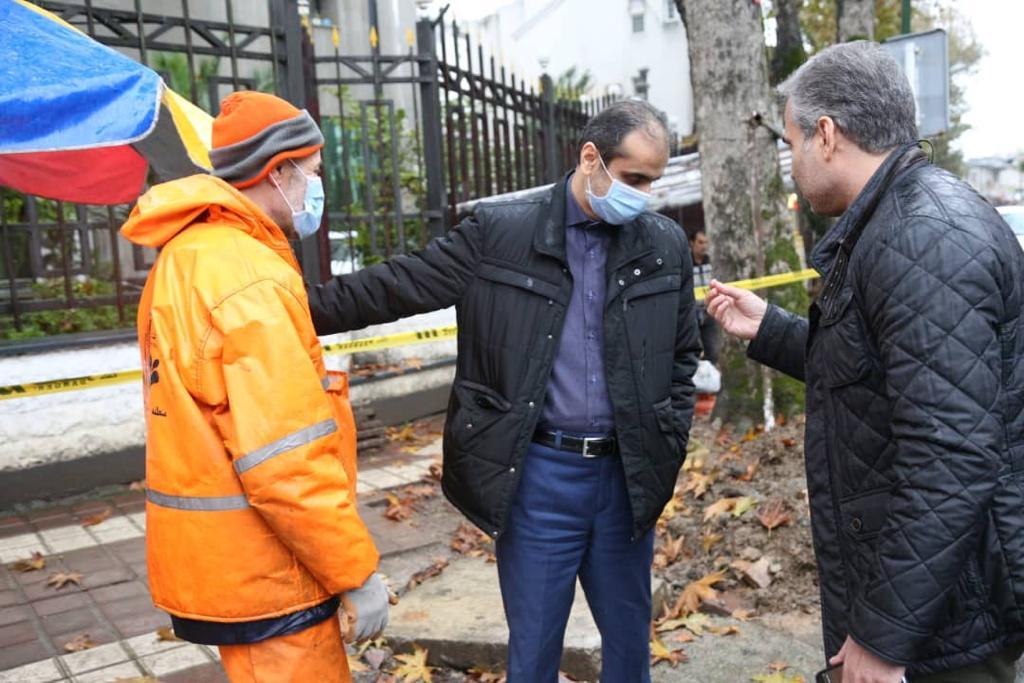 IMG 20201126 WA0013 - صبح امروز؛ شهردار رشت از نقاط آبگیر سطح شهر بازدید کرد