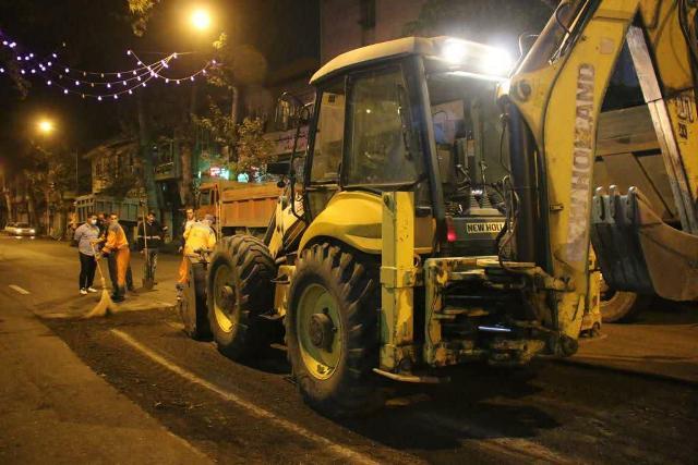 photo 2020 10 29 08 06 39 - گزارش تصویری اجرای آسفالت شبانه خیابان تختی