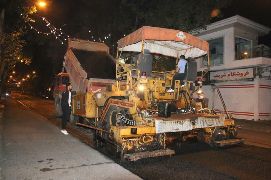 photo 2020 10 29 08 07 00 - گزارش تصویری اجرای آسفالت شبانه خیابان تختی