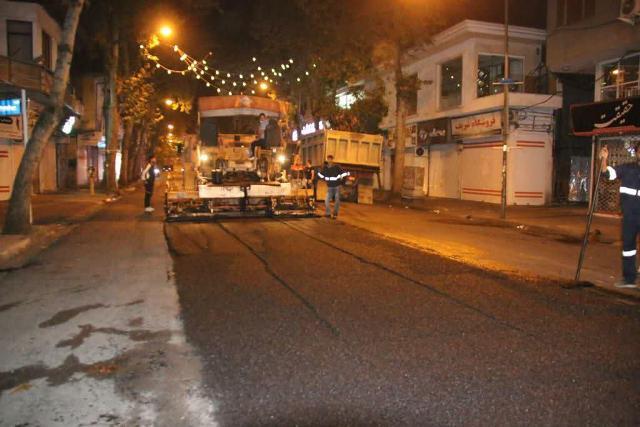 photo 2020 10 29 08 07 18 - گزارش تصویری اجرای آسفالت شبانه خیابان تختی