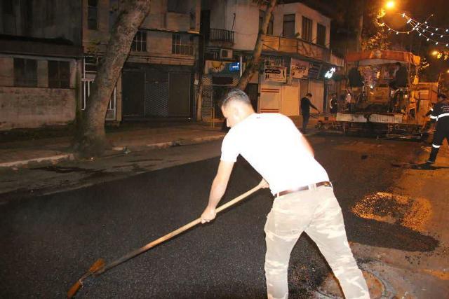 photo 2020 10 29 08 07 20 - گزارش تصویری اجرای آسفالت شبانه خیابان تختی