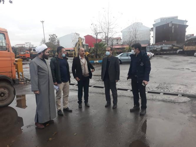 IMG 20201219 WA0005 - بازدیدسرزده شهردار رشت از اداره فنی و اجرایی/ تاکید بر بازآمد نمودن ماشین آلات سازمان برای زمستان