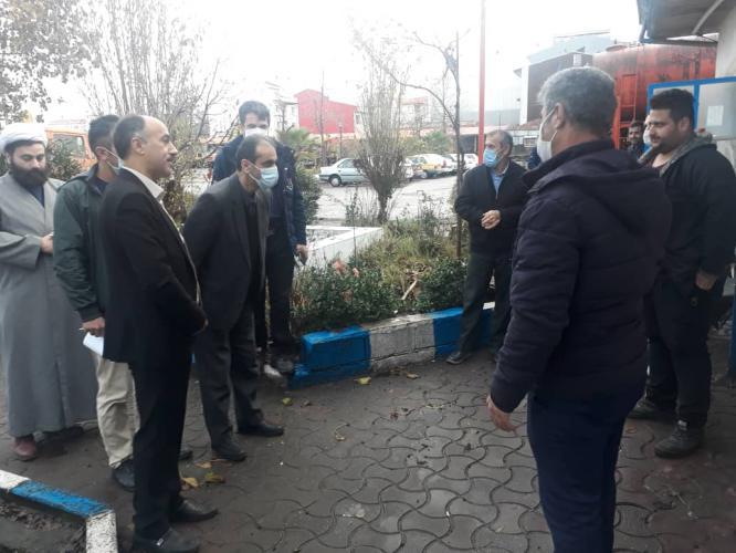 IMG 20201219 WA0012 - بازدیدسرزده شهردار رشت از اداره فنی و اجرایی/ تاکید بر بازآمد نمودن ماشین آلات سازمان برای زمستان