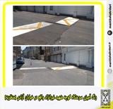 رنگ آمیزی سرعتکاه کوچه شهید غبرانژاد واقع در خیابان آزادی (منظریه)