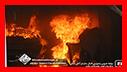 تلاش آتش نشانان در پی واژگونی خودرو در بلوار شهید حبیب زاده / شهر رشت