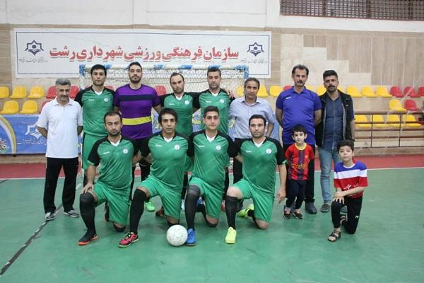 سازمان فرهنگی،اجتماعی و ورزشی شهرداری رشت:پیروزی تیم بلدیه رشت درمقابل تیم حمیدیان رشت