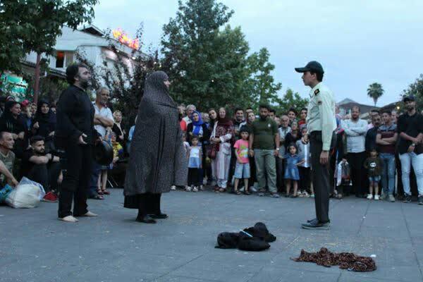 اجرای تئاتر خیابانی «توهم» در دوازدهمین هفته از فصل دوم پروژه تئاتر خیابانی دائم
