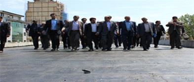 بازديد وزير كشور از تقاطع غير همسطح شهيد باستاني شعار و برادران شهيد قلي پور