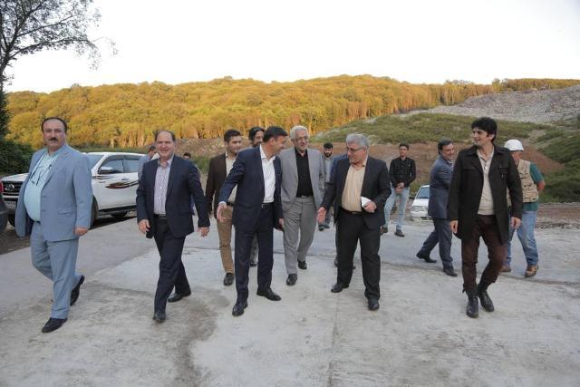 p1001 - شهردار رشت و معاون سیاسی - امنیتی استانداری و فرماندار رشت از دفنگاه زباله سراوان بازدید کردند