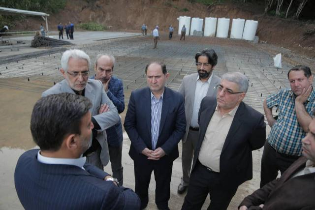 p1004 - شهردار رشت و معاون سیاسی - امنیتی استانداری و فرماندار رشت از دفنگاه زباله سراوان بازدید کردند