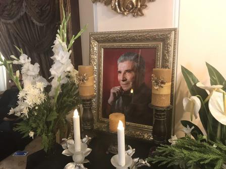 دکتر مسعود نصرتی شهردار منتخب رشت به دیدار خانواده استاد مرحوم نادر گلچین رفت.