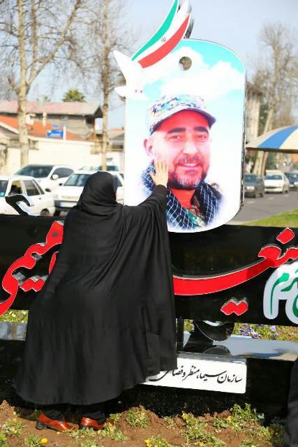 photo 2019 02 22 16 04 26 - رونمایی از یادمان شهید مدافع حرم شهید حسینعلی ابراهیمی