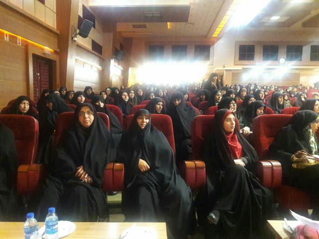 برگزاری مراسم گرامیداشت مقام والای زن سازمان بسیج جامعه ی زنان سپاه قدس گیلان با مشارکت شهرداری رشت