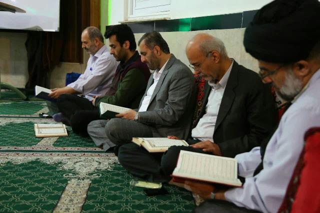 گزارش تصویری برگزاری سومین مراسم محفل انس با قرآن کریم در مسجد امیرالمومنین (ع) حافظ آباد