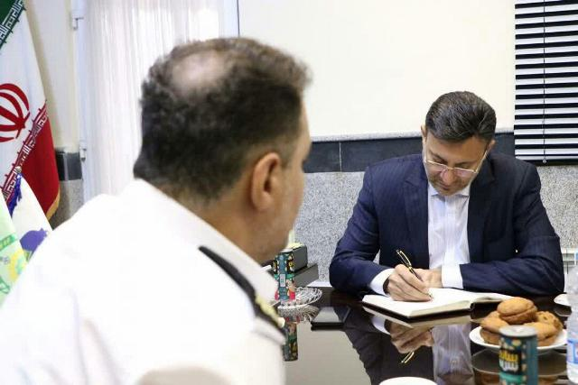 photo 2019 10 10 10 57 29 - گزارش تصویری دیدار شهردار رشت با رئیس پلیس راهور استان گیلان