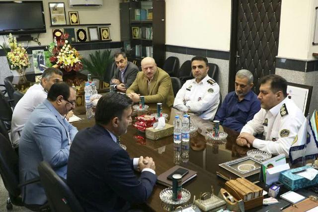 photo 2019 10 10 10 57 51 - گزارش تصویری دیدار شهردار رشت با رئیس پلیس راهور استان گیلان