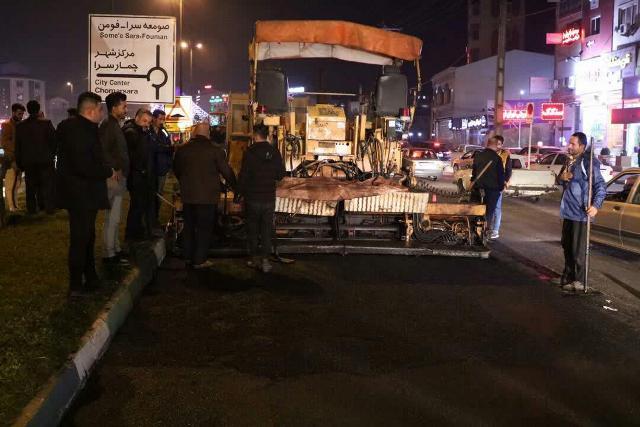 photo 2019 12 15 10 59 04 - گزارش تصویری ادامه روند عملیات آسفالت میدان جهاد