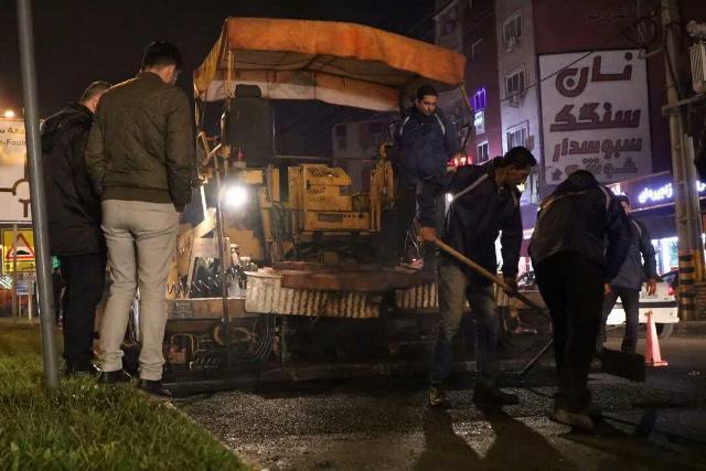 photo 2019 12 15 10 59 09 - گزارش تصویری ادامه روند عملیات آسفالت میدان جهاد