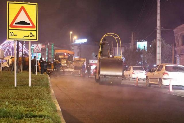 photo 2019 12 15 10 59 18 - گزارش تصویری ادامه روند عملیات آسفالت میدان جهاد