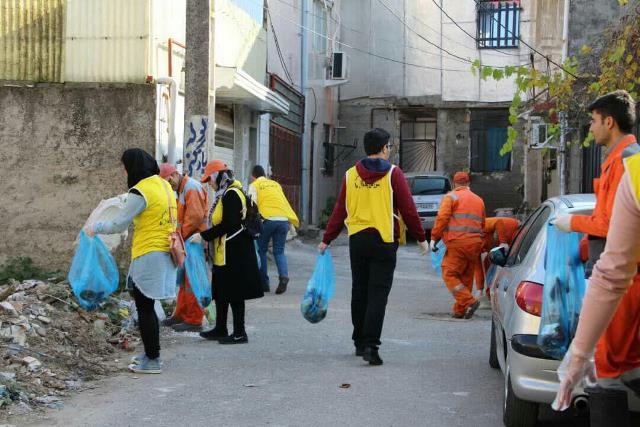 photo 2019 12 27 19 39 14 - با هدف فرهنگ سازی برای تفکیک زباله از مبدا؛ طرح پاکسازی محله حمیدیان رشت به اجرا در آمد