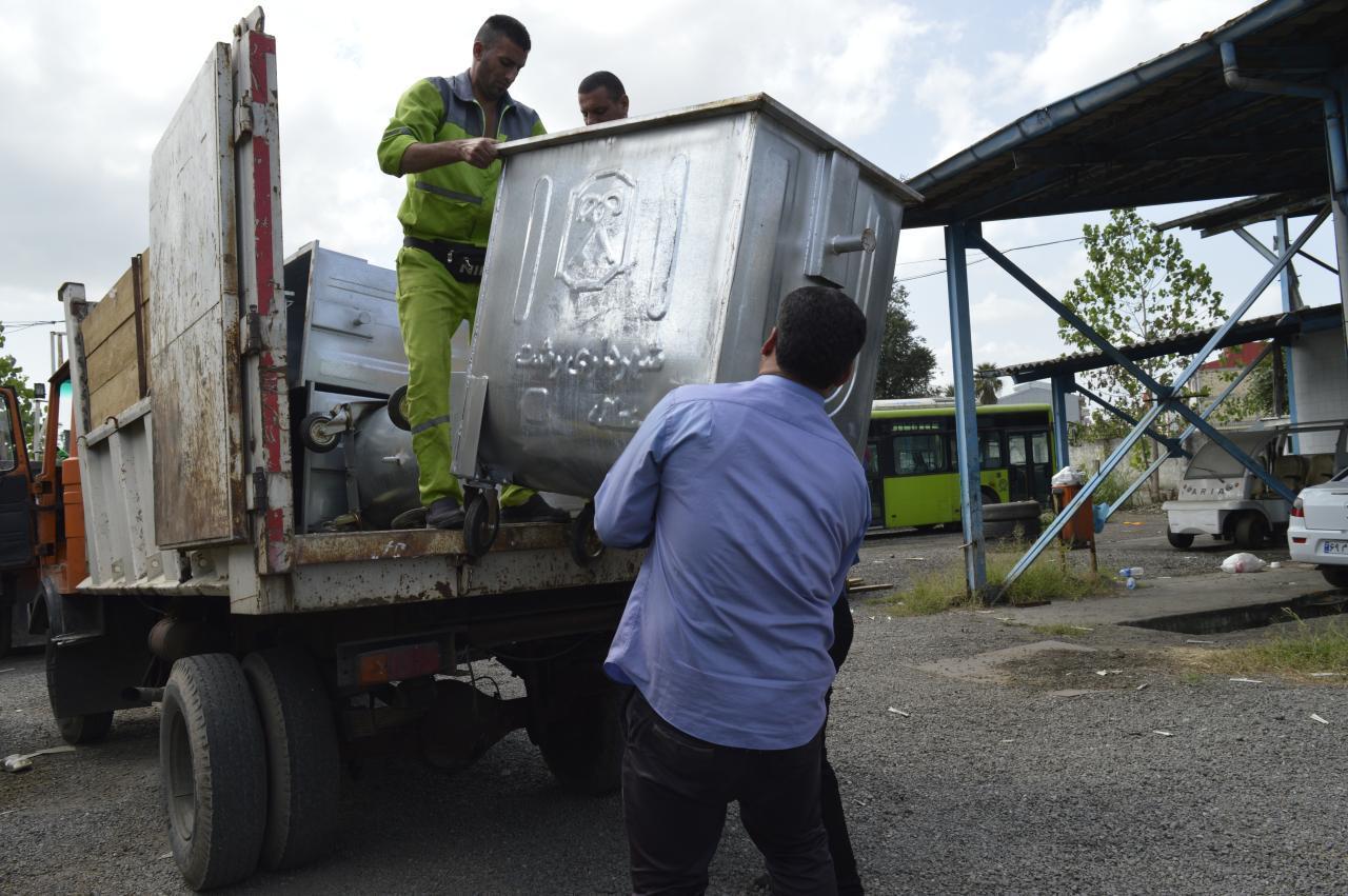 photo 2020 09 09 22 39 14 - رئیس سازمان مدیریت پسماندهای شهرداری رشت خبر داد:جانمایی ۲۰۰ مخزن جدید زباله در سطح شهر